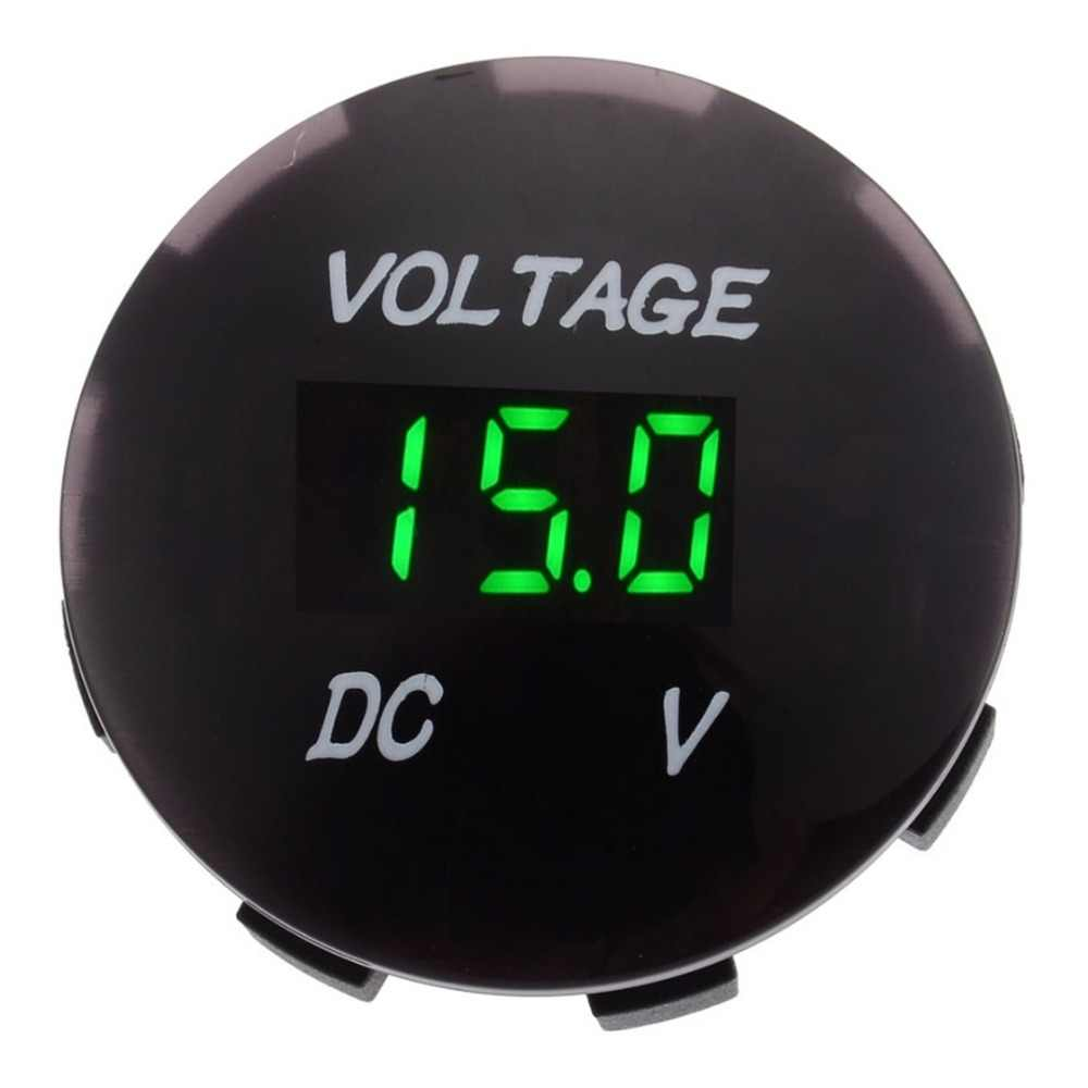 DC 12V-24V Car Motorcycle LED Digital Display Voltmeter Blue Red Green LED Volt Voltage Gauge Meter for Auto Boat ATV UTV