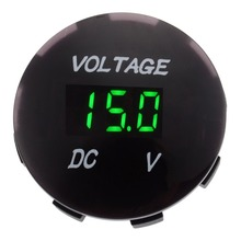 DC 12V-24V Car Motorcycle LED Digital Display Voltmeter Blue Red Green LED Volt Voltage Gauge Meter for Auto Boat ATV UTV цены