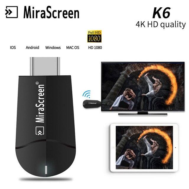 4 K HDMI אלחוטי WiFi תצוגת Dongle 1080 P HD וידאו מתאם מקל Airplay שיקוף עבור iPhone iOS אנדרואיד טלפון כדי טלוויזיה מקרן