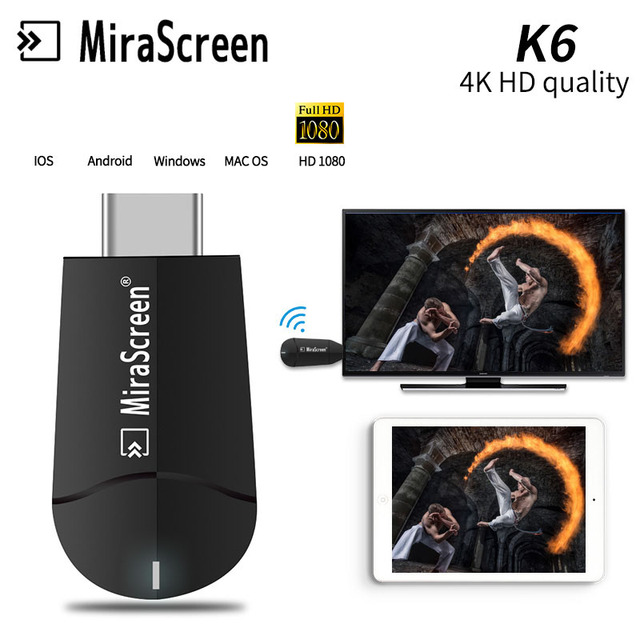 4K HDMI Wireless WiFi Display Dongle 1080P HD Video Adapter Stick Airplay Mirroring for iPhone iOS Android Phone to TV Projector
