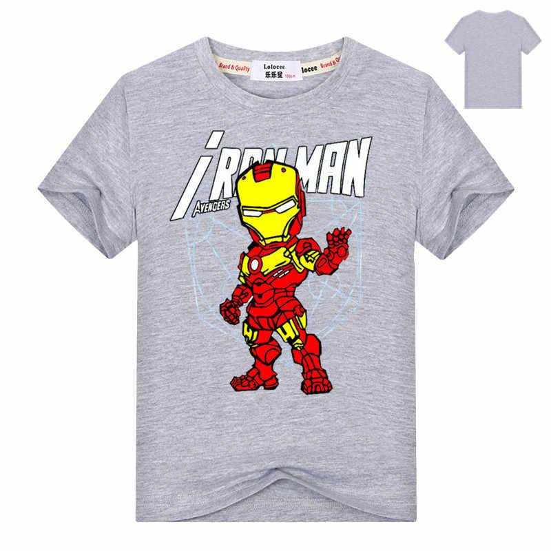 c591c6eb ... Marvel Toddler Boys' Iron Man Spiderman Short Sleeve T-Shirt Kids  Cotton O- ...
