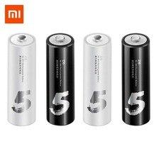 4PC/lot Original Xiaomi ZMI ZI7 ZI5 AAA AA 700mAh 1800mAh 1.2V Rechargeable Ni-MH Battery ZIM Power Bank #