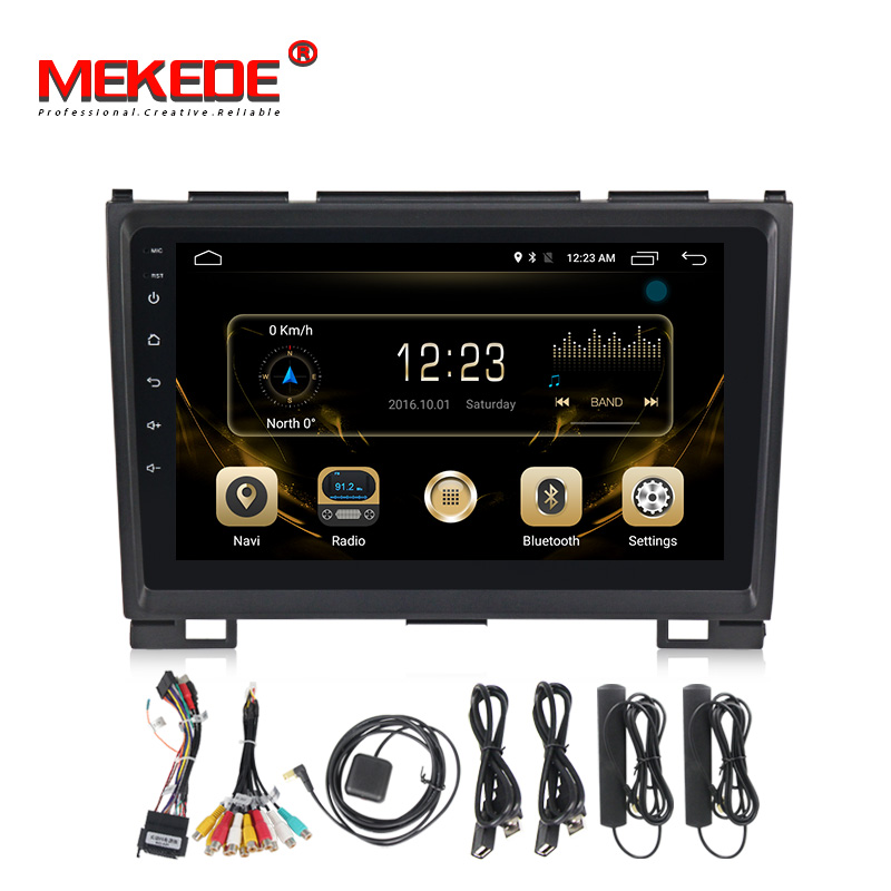MEKEDE Russian Menu Navitel Map 9inch Full Touch Android7.1 Car Dvd Gps Player For Greatwall Hover H5 With 4G LTE Wifi BT Radio