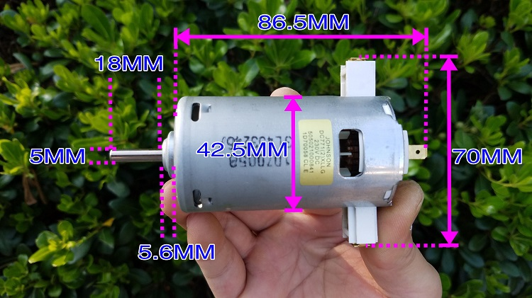 JOHNSON DC771(2)XLLG DC 230V / JOHNSON DC High Power Motor / Micro Saw Engraving Machine DC Motor