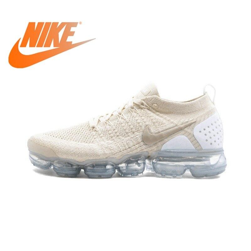 Nike Air Vapormax Flyknit 2.0 Womens Running Shoes White Lightweight Non-slip Shock Absorbing Breathable Sneakers 942843 800Nike Air Vapormax Flyknit 2.0 Womens Running Shoes White Lightweight Non-slip Shock Absorbing Breathable Sneakers 942843 800