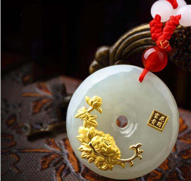 Pierre naturelle Quartz cristal Turquoises Jades bouton de sécurité amulette pendentif pour bijoux à bricoler soi-même faisant des accessoires de collier