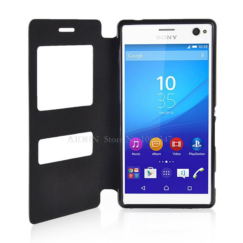 new styles 2b46b 8badc US $9.39 |For Sony Xperia C4 Dual/E5303/E5306/E5353 Ultra Thin Book Flip  Leather Case Stand Cover on Aliexpress.com | Alibaba Group
