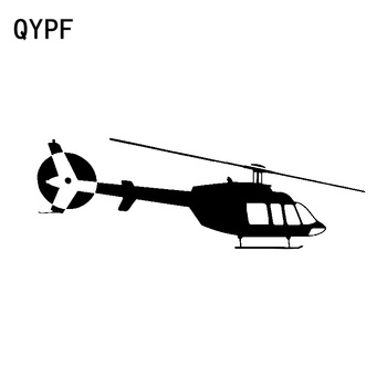 QYPF 16.7cm*5.6cm Exquisite Tidal Beauty Helicopter Aircraft High Quality Clear Vinyl Car Sticker Decal Accessories C18-0679 image