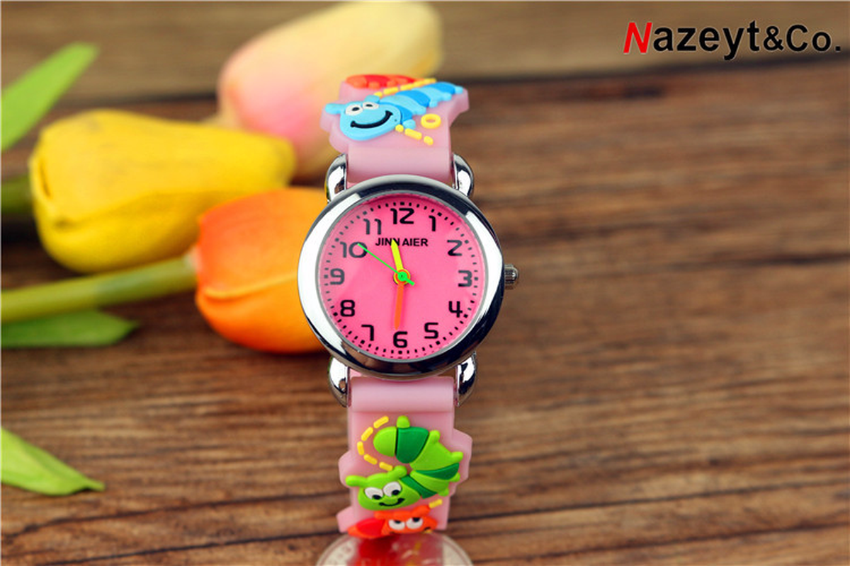 New Children's Jelly Cute 3D Silica Gel Watchband Quartz Watch Children's Simple Digital Dial Gift Watch