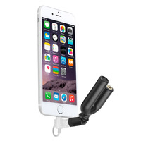 BOYA 3.5mm TRRS Mic with 3 position Headset Splitter & Bend Adapter for Lightning Cable for iPhone X 8 7 6 6s 5 iPad iPod Touch