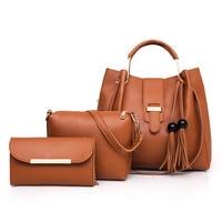 Handbag Women 2019 New Women's Handbags Fashion Single Shoulder Bag Bucket Ladies Bags 3 Pcs/set Composite Bag