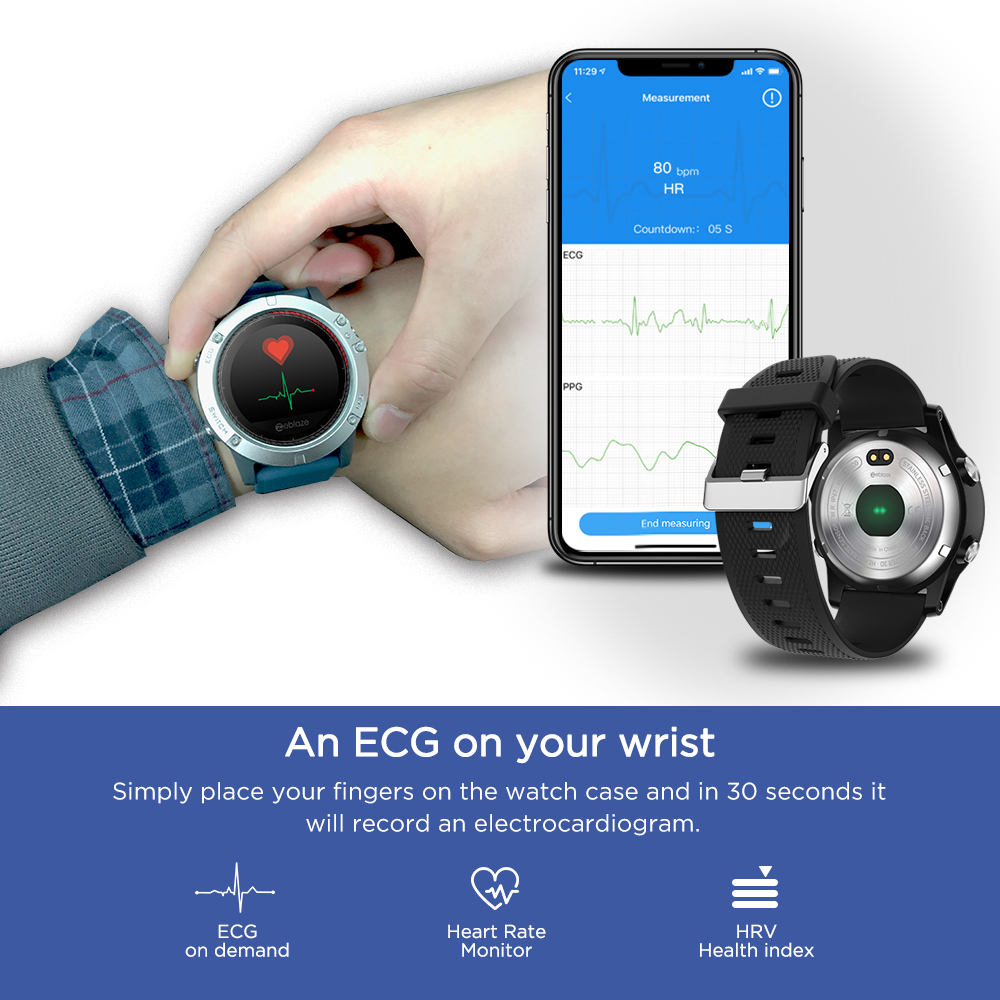 Image 3 - Zeblaze VIBE 3 ECG Instant ECG on demand Color Display Heart Rate
