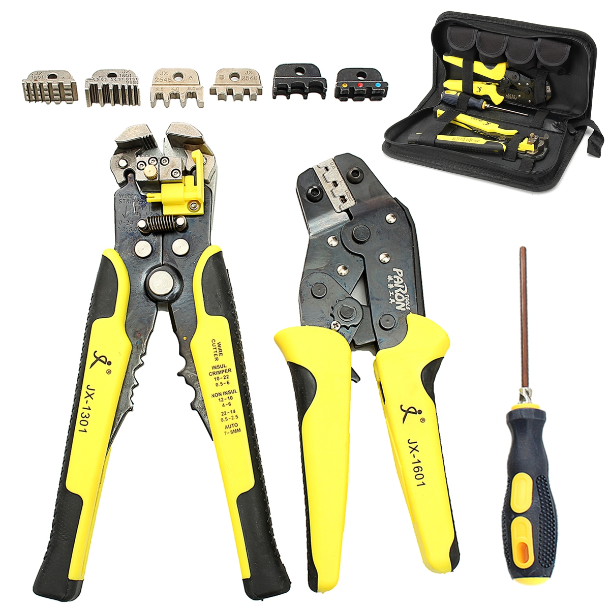 JX-D4301 4in1 Wire Crimpers Engineering Ratcheting Terminal Crimping Pliers Wire Stripper Manganese Steel 4 Interchange Terminal цена