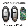 Car Smart Remote Key Fit for NISSAN Qashqai X-Trail Keyless Entry Controller Continontal S180144102 433.92MHz