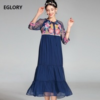 Lace Embroidery Dress New Fashion 2017 Summer Women Colorful Floral Short Sleeve Slim Fitted Cute Lolita