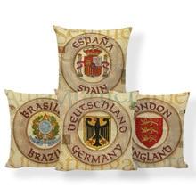 National Flag Spain Cushion Brasilia Paris Brazil Pillow Hippie Shopping  Clubs House Warming Gift Throw Pillow