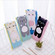 1pcs/lot Kawaii Creative cat Canvas Pencil Case Storage Organizer Pen Bags Pouch Pencil Bag School Supply Stationery