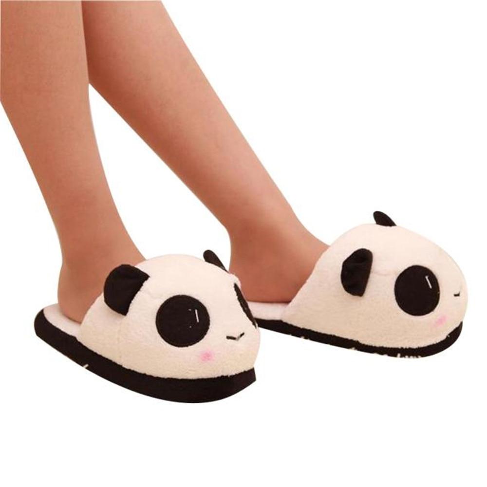 SAGACE New Fashion Women Winter Cute Panda Eyes Slippers Lovely Cartoon Indoor Home Soft Shoes Soft Panda Warm Plush Antiskid наклейки olive8851 fashion drop panda hg ws 1580