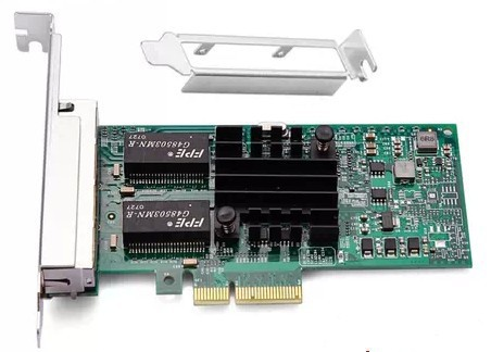 I350-T4 10/100/1000M 4-Port RJ45 PCI Express Low-pro Ethernet Server Adapter(I350T4BLK) - Plastic box ,1 year warranty
