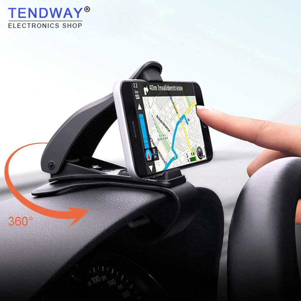 Tendway Dashboard Car Phone Holder 360 Degree Mobile Phone Stand Holder Grip in Car Universal Adjustable Cell Phone Holder Mount(China)