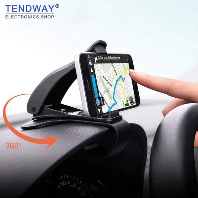 Tendway Soporte de teléfono para salpicadero de coche, soporte Universal ajustable para teléfono móvil de 360 grados