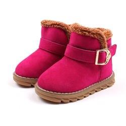 Mudipanda зимние ботинки детская обувь детские ботинки для девочек мальчиков ботильоны круглый носок плюше bota menina снег Туфли с ремешком и