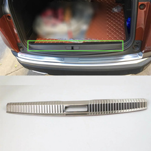 OUBOLUN exterior car accessories Car body kits stainless steel inner rear bumper foot plate For Peugeot 4008 2016 car body kits plastic rear bumper foot plate car sticker for toyota vios 2017