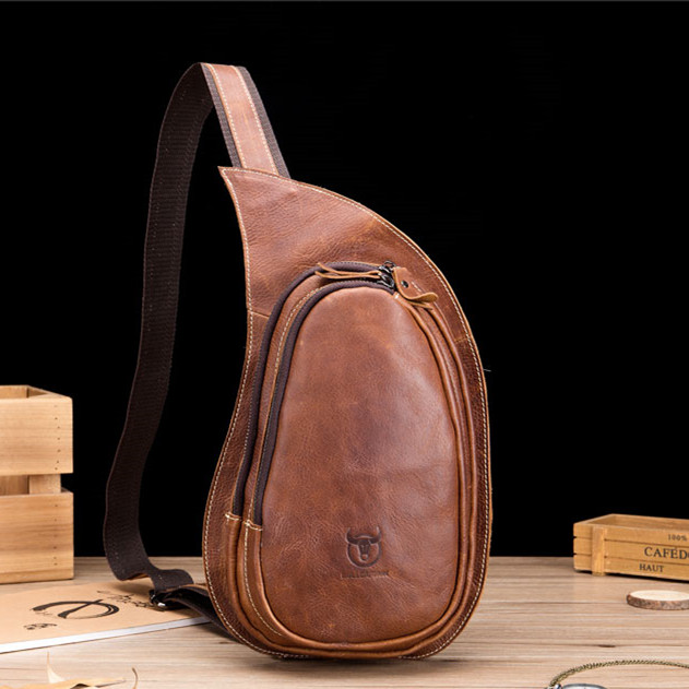 Luxury 2019 New Spring and Summer Natural Crazy Horse Leather Men Chest Bag Durable Quality Genuine Leather Bag Luxury 2019 New Spring and Summer Natural Crazy Horse Leather Men Chest Bag Durable Quality Genuine Leather Bag
