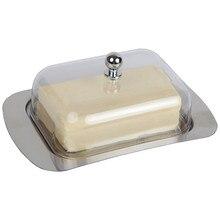 Edelstahl Butter Käsegericht Box Behälter Rechteck Serverspeicher Keeper Fach Brot Platte Mit Deckel Küche Zubehör
