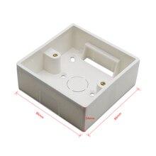 86*86 мм Настенная распределительная коробка для занавеса глухих переключателей белого цвета Установочная коробка для QCSMART WiFi переключатель занавесок