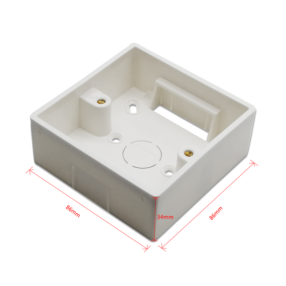 86*86mm Wall Mounted Junction Box for Curtain Blind Switch White Color Installation Box for QCSMART WiFi Curtain Switch86*86mm Wall Mounted Junction Box for Curtain Blind Switch White Color Installation Box for QCSMART WiFi Curtain Switch