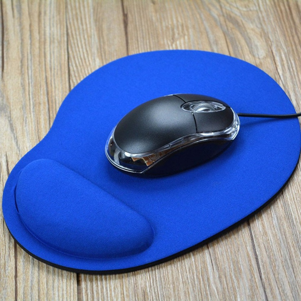 Gaming Office Mouse Pad Mat Ergonomic Mousepad Build-in Soft Sponge With Gel Rest Wrist Support