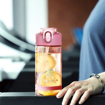Plastic Sport Water Bottle With Straw Leakproof Water Bottle Portable Scrub Space Cup Tritan BPA Free 5