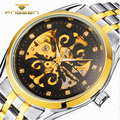2017 NEW Luxury Top Brand Mens Watches Stainless Steel Automatic Mechanical Wrist Watch Men Fashion Skeleton Clock Sport Gifts