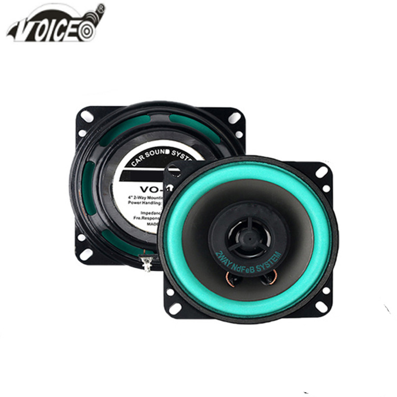 4 Inch Car Speaker Paired Automobile Automotive Auto Hifi Coaxial Loudspeaker Full Range Bubble Gum Edge