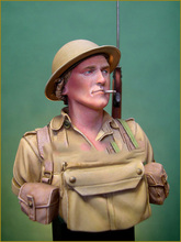 Scale Models 1 10 British Soldier Battle of EL ALAME bust figure Historical WWII Resin Model