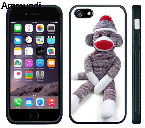 Arsmundi Sock Monkey Doll Stuffed Doll Phone Cases for iPhone 4S 5C 5S 6S 7 8 Plus X for Samsung Case Soft TPU Rubber Silicone