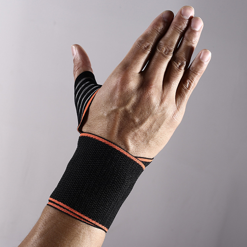 Sports Protection Wrist Support Men Elastic Sports Safety Tennis Wrist Bandage Brace Support