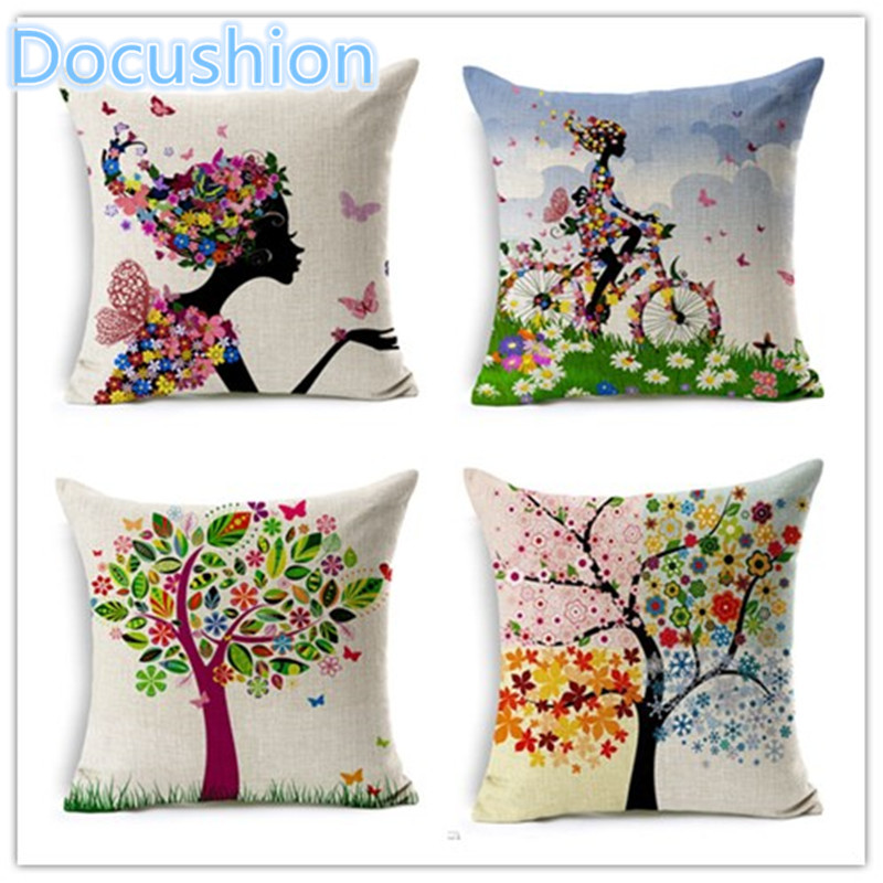 Customized design fashion plant style printed pillow bed - Fundas para cojines sofa ...