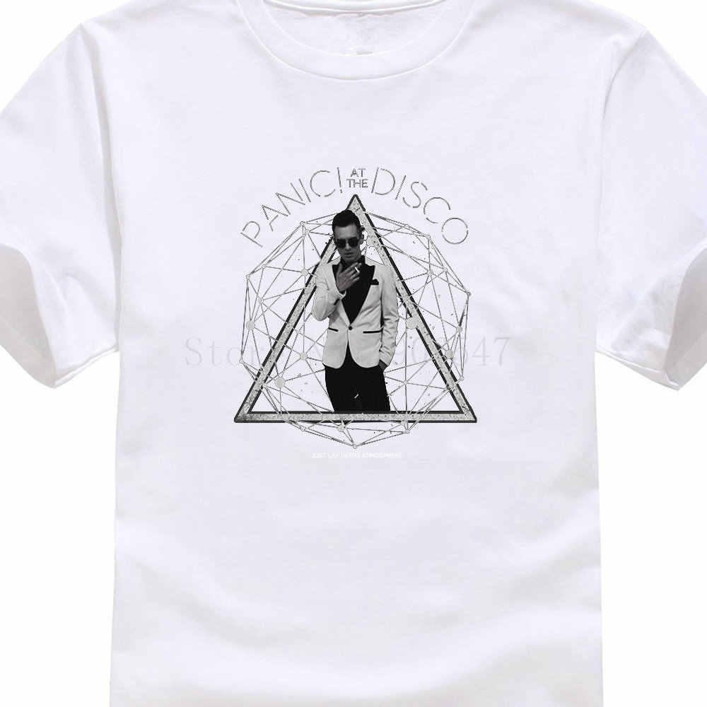 9cd429a0 New Arrival Short Fashion Panic At The Disco Photo Galaxy Crew Neck  Short-Sleeve Mens