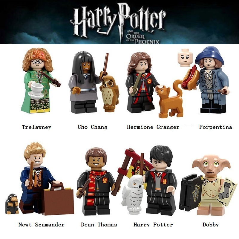 8Pcs/Set LegoING Toy Building Blocks Pumping Series Harry Potter Trelawney Cho Chang Dobby Action Figures Children Toys PG8192