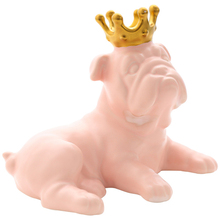 цена на Nordic Style Dog Model Figurines Ceramic Crafts Cute Dog Ornaments Miniatures Home Decoration Accessories Birthday Gift Kids Toy