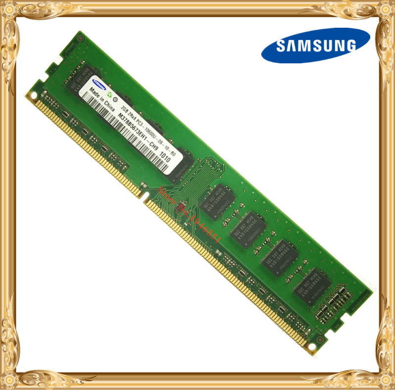 Samsung Desktop memory DDR3 2GB 1333MHz PC3-10600U PC RAM 2G 10600 1333 240pin kingston ecc memory ram ddr3 4g 1333mhz cl9 240pin 1 5v pc3 10600u working on workstation and servers