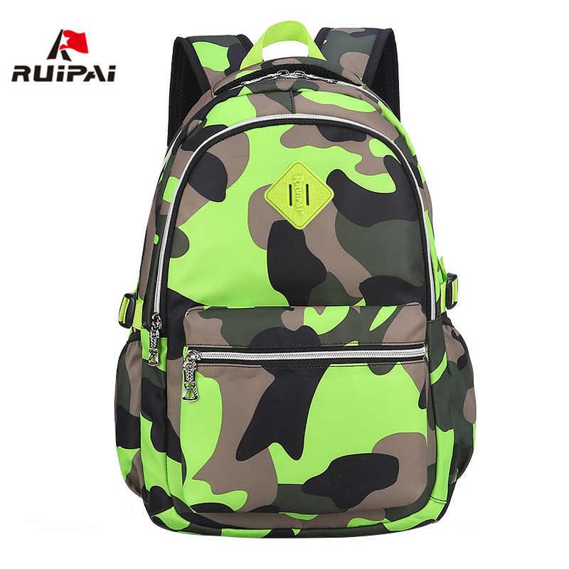 Green Camo Boy/'s Backpack