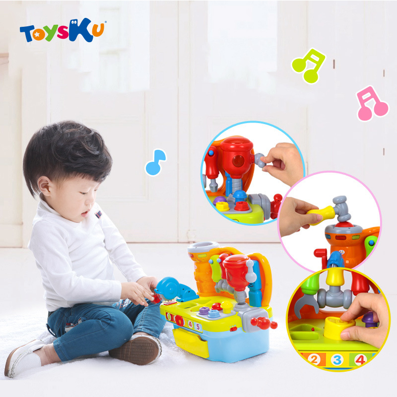 ФОТО Children Pretend Play Tool Set Electric, Music and Light Pretend Play Tool Toys For Children Early Educational