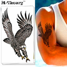 M-theory Airforce Eagle Hawk Body Makeup Temporary 3d Tattoos Sticker Henna Flash Tatoos Body Arts Bikini Swimsuit Makeup Tools
