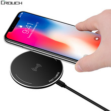 Crouch Qi Fast Wireless Charger + Wireless Receiver Chargers For iPhone X 8 Plus Samsung Note 8 S8 Plus S7 Fast Charging Pad