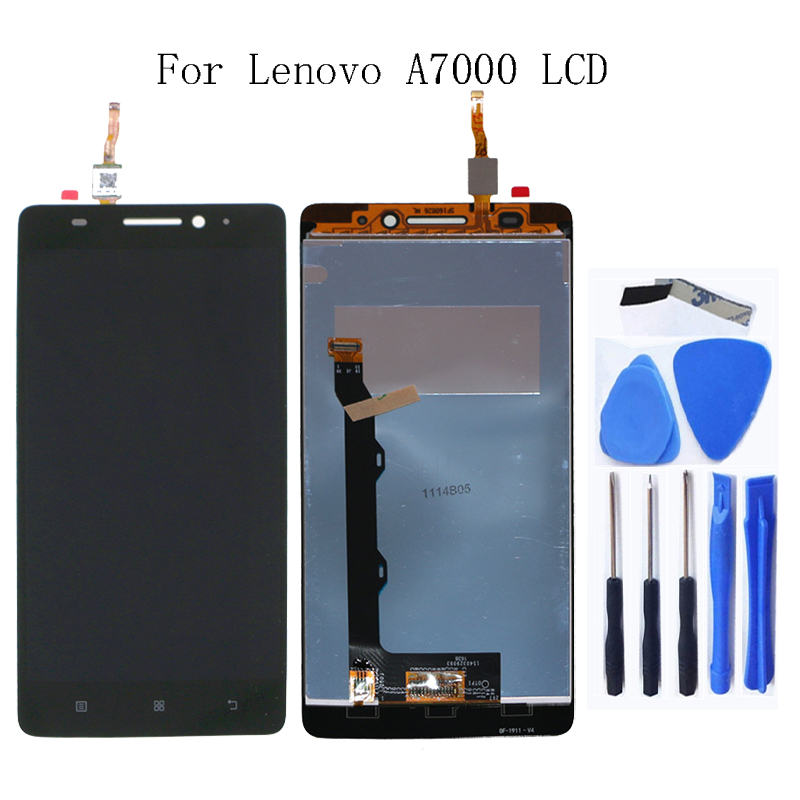 For Lenovo A7000 100% tested new LCD liquid crystal display digitizer component for Lenovo A7000 display replacement+Free tool-in Mobile Phone LCD Screens from Cellphones & Telecommunications