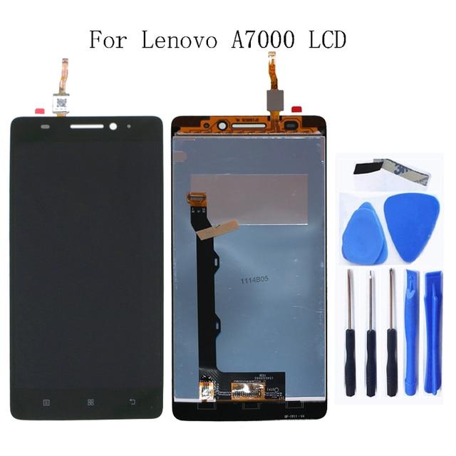 Pour Lenovo A7000 100% testé nouveau affichage à cristaux liquides LCD digitizer composante pour Lenovo A7000 affichage remplacement + outil Gratuit