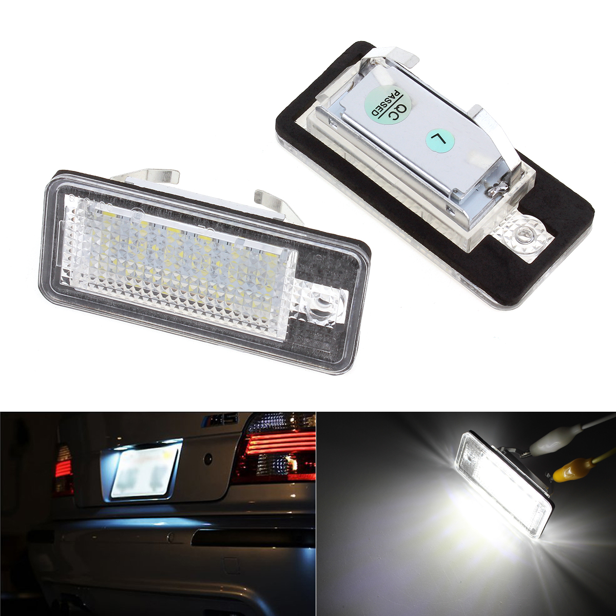 2Pc Car LED License Plate Lights 12V SMD3528 Number Plate Lamp Bulb Kit For  Audi A6 C6 Q7 A4 B7 A4 B6 8E A3 S3 A8 S8 S6 RS4 RS6 smaart v 7 new license